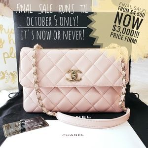 ⬇️$4,500 SALE🎉 Chanel Lambskin Quilted Trendy CC